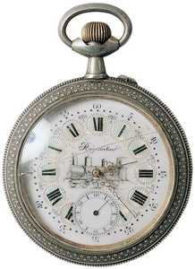 12. A 19th century pocket watch.