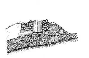 "20. The furnace of an ""haizeola"", or mountain forge, by Manuel de Laborde in ""Forges in Legazpi""."